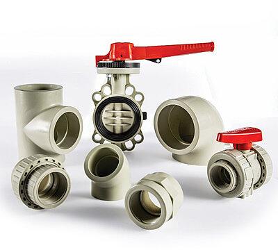 PP Formteile und Armaturen PP-Rohrleitungs-System